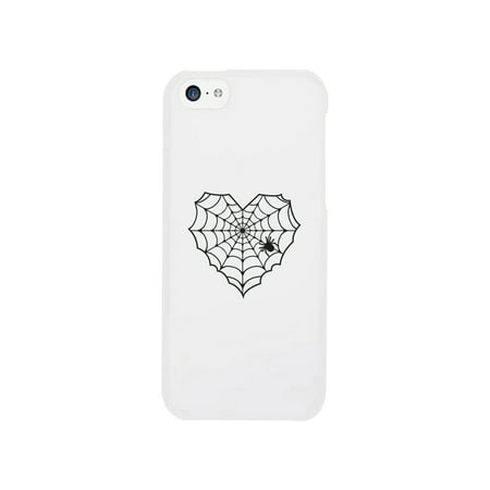 Heart Spider Web White Phone Case](Halloween Phone)