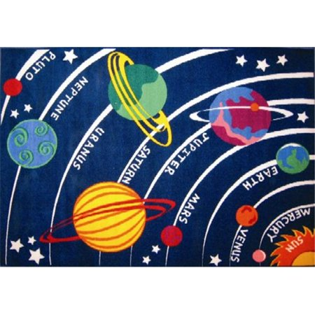 Solar System Rug (Fun Time Collection - Solar System Rug - 19 x 29)