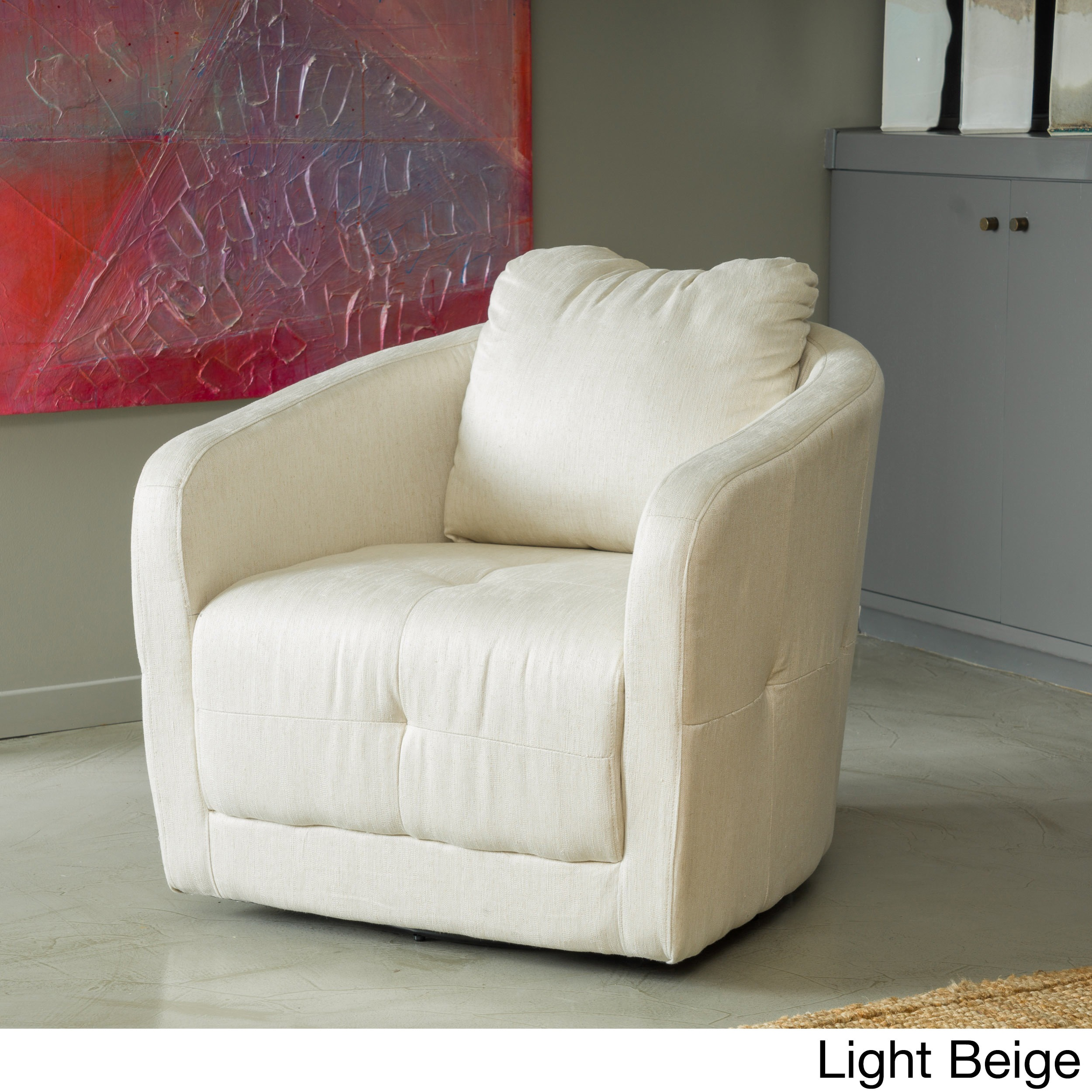 Christopher Knight Home  Concordia Microfiber Fabric Swivel Chair