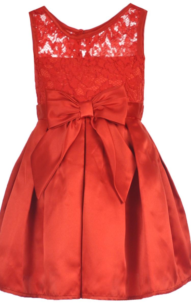 Youngland Little Girls Satin Bloom Dress Sizes