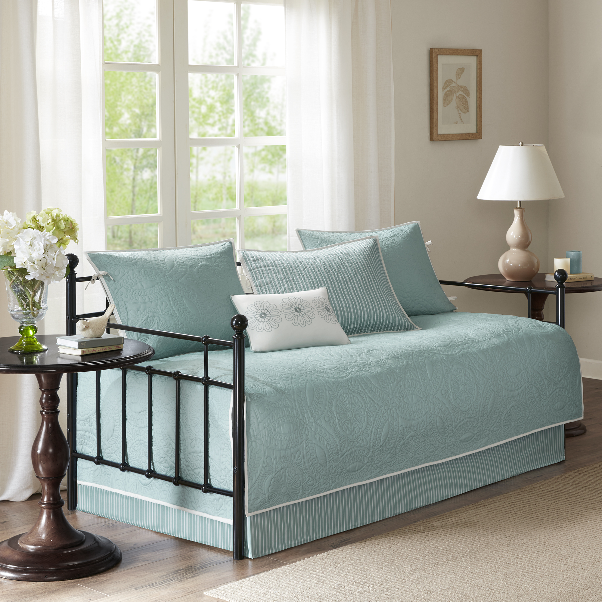 Home Essence Natalie 6 Piece Quilted Daybed Cover Set