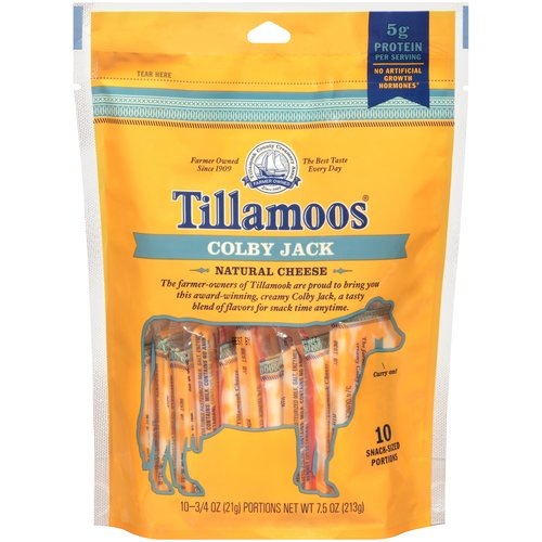 Tillamook Pack-It-Pals Colby Jack Cheese Tilla-Moos, 10 ct