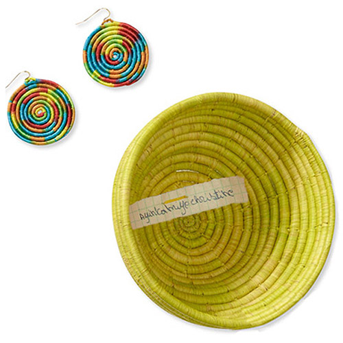 2-Piece Small Basket and Circle Earring Set by Gahaya Links for Full Circle Exchange
