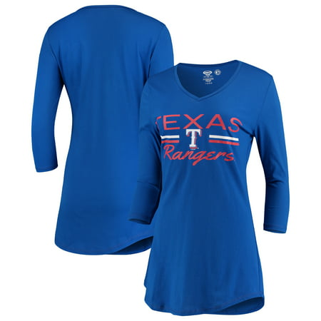 Texas Rangers Concepts Sport Women's Duo V-Neck Nightshirt - (V-neck Nightshirt)