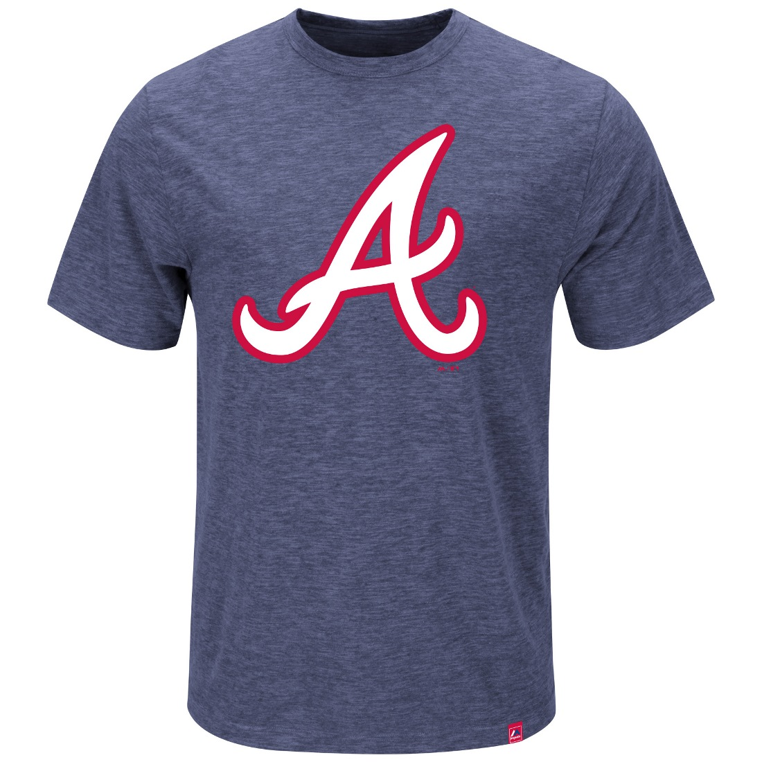 "Atlanta Braves Majestic MLB ""Mental Metal"" Men's Heathered Slub T-Shirt"