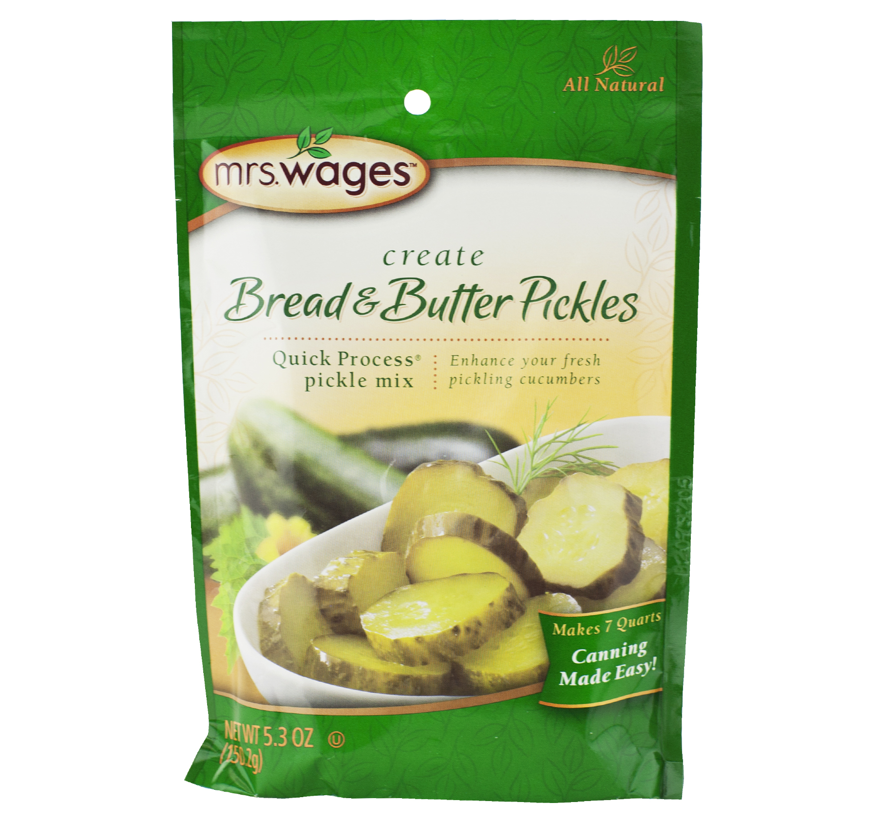 Mrs. Wages Bread & Butter Pickle Mix 5.3 oz. (6 Packets)