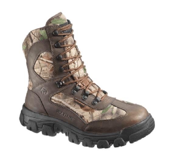 Wolverine Men's Buck Tracker Waterproof Outdoor Boots Brown Camo (9.0M) by