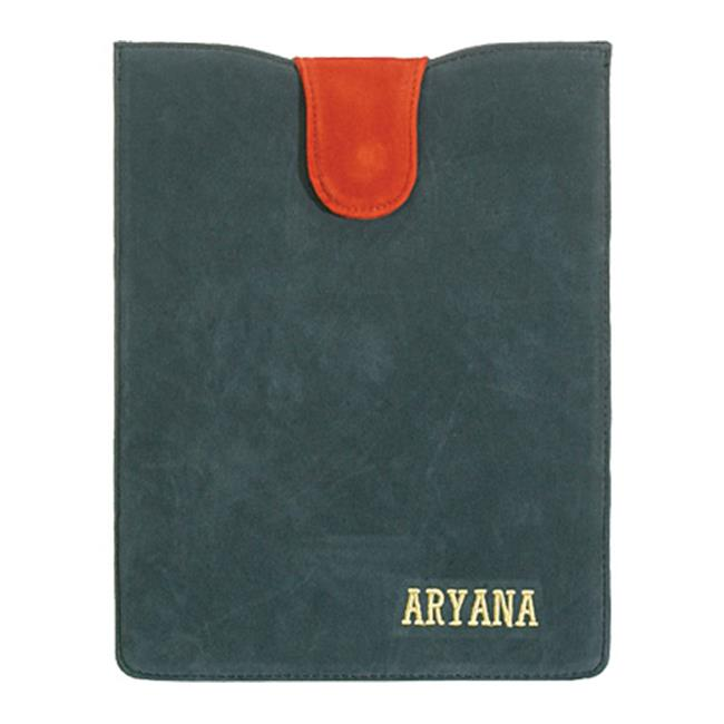 Aryana Ella-1-Grn Chic Basic Green Suede Flap Closure Essential Ipad Cover