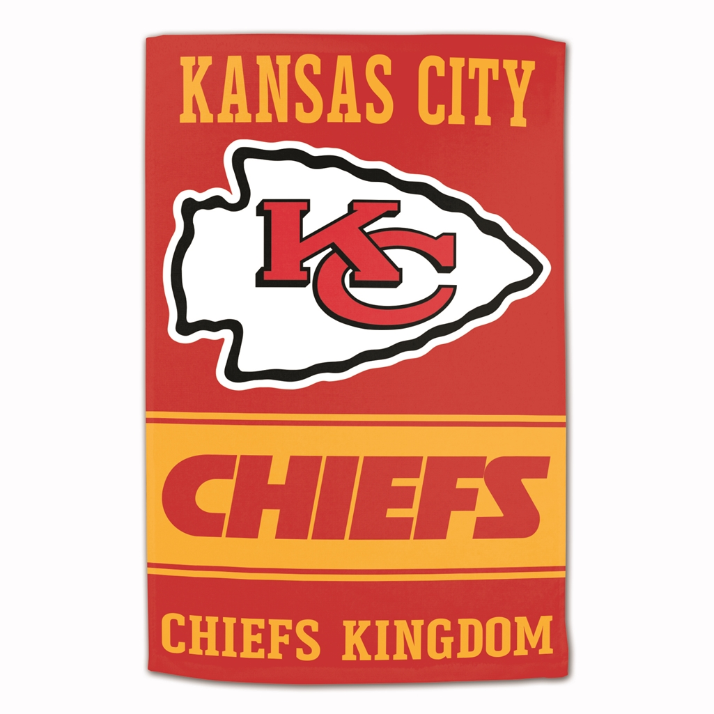 "Kansas City Chiefs Sublimated Cotton Towel - 16"" x 25"""