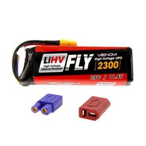Venom 25C 3S 2300mAh 11.4V LiHV High Voltage LiPo Battery with Universal 2.0 Plug