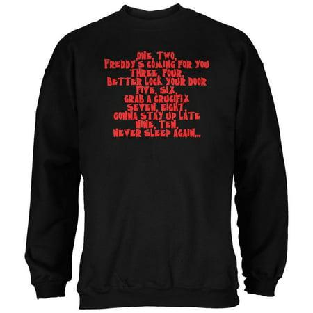 Halloween Nightmare Nursery Rhyme Black Adult Sweatshirt - Pier 95 Halloween