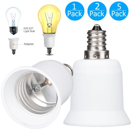 E12 Socket - TSV 1/2/5-pack Screw E12 to Medium Base E26 Light Bulb Socket Adapter Converter