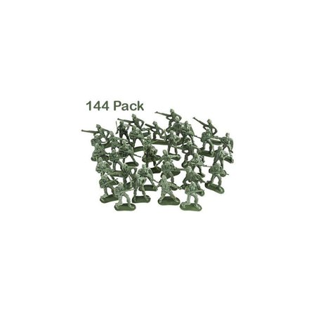Kidsco Army Toy Soldiers Action Figures - Assorted -144 Pack Deluxe - for Children, Boys, Girls, GI Joes, Parties, Gifts, Party Favors (Gi Joe Ultimate Battle Pack)
