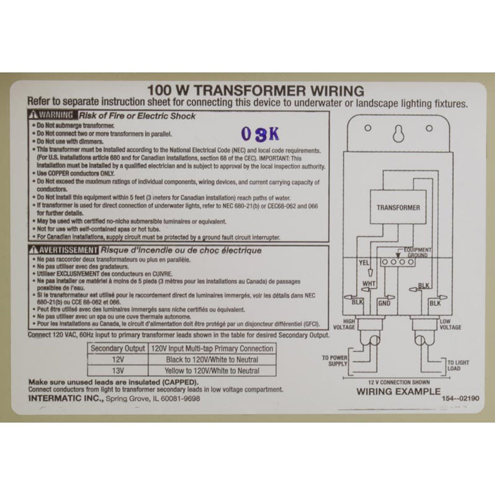 Transformer Intermatic 115v 12v 13v 100w Beige Steel Walmart Com Walmart Com