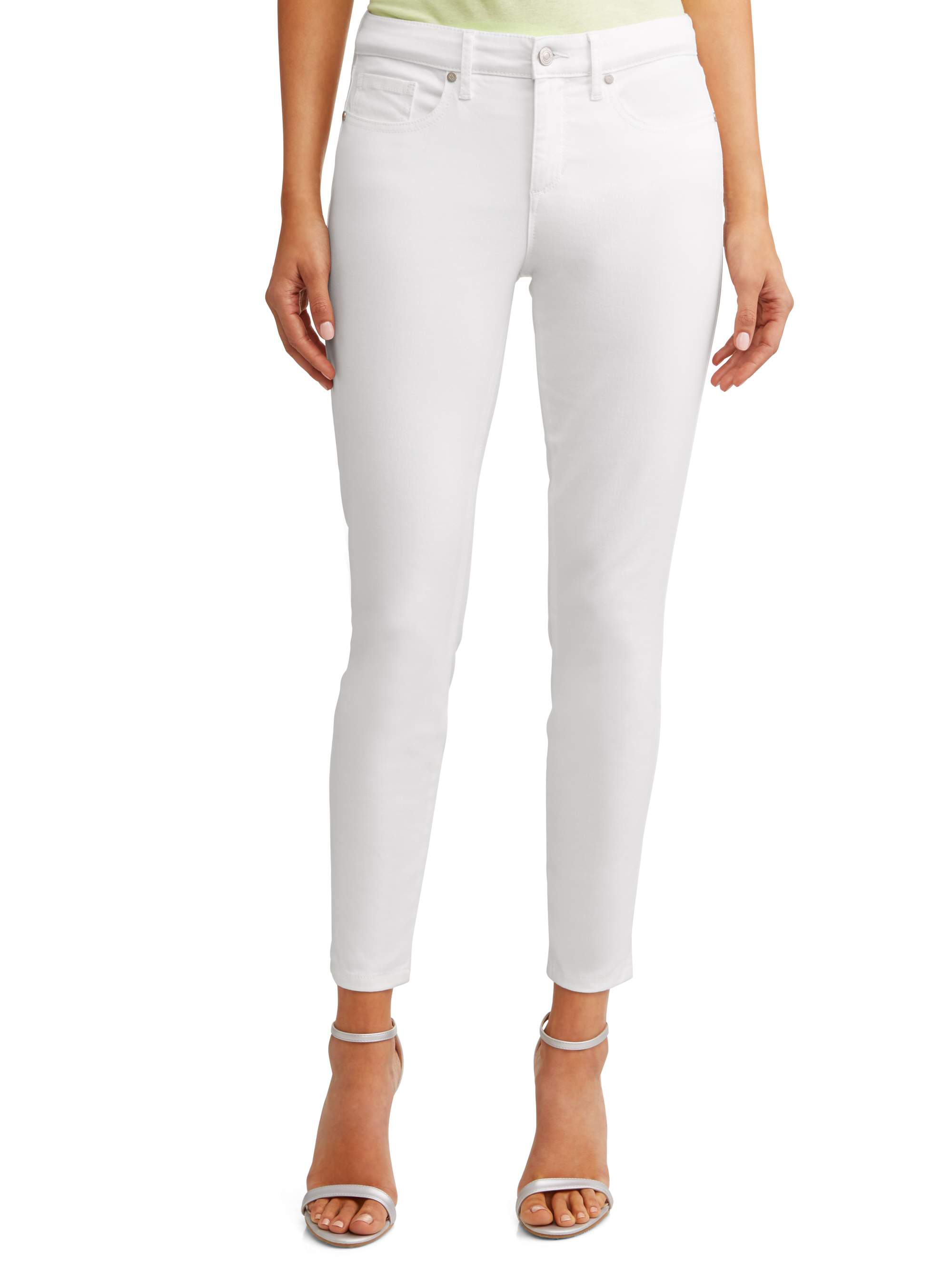 Sofía Skinny Mid Rise Stretch Ankle Twill Jean Women's (White)