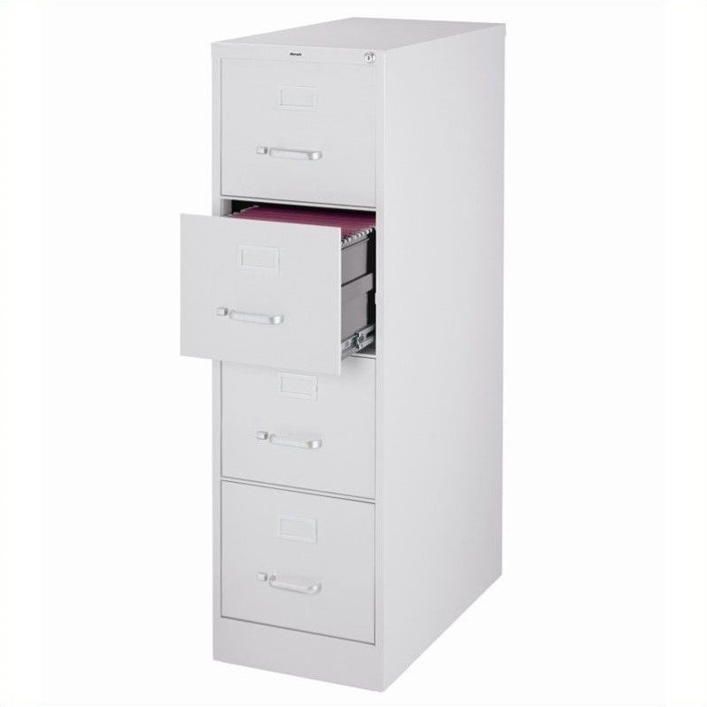 Hirsh Industries 2500 Series 4 Drawer Letter File Cabinet in Gray ...