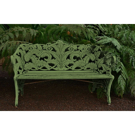 LAMINATED POSTER Bench Outdoors Nature Relax Park Bench Seat Poster Print 24 x 36 ()