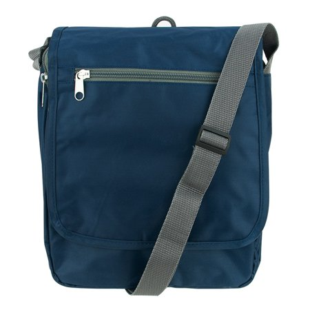 Travelon Triplogic RFID BLocking Slim Travel Luggage CrossBody Day Bag Navy