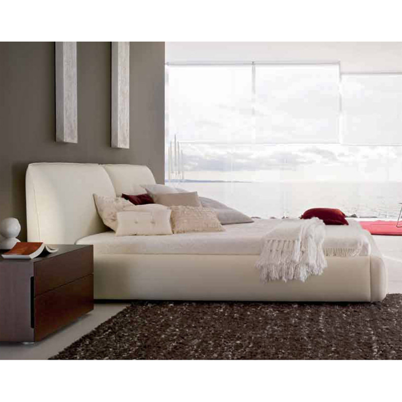 Rossetto Pavo Platform Bed Beige by Rossetto USA