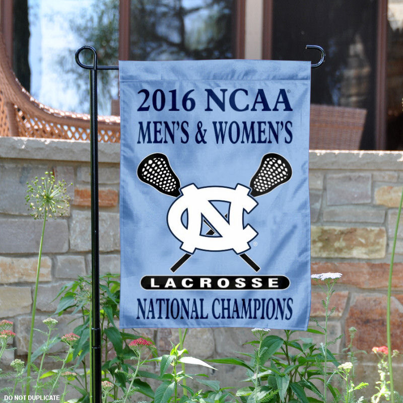 "North Carolina Tar Heels 2016 Men's and Women's Lacrosse Champs 13"" x 18"" College Garden Flag"