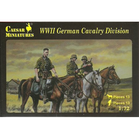 H092 WW2 German Cavalry Division 1/72 Scale Model Figures, Caesar Miniatures Set H092 WW2 German Cavalry Division By Caesar