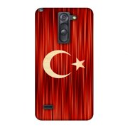 LG G3 Stylus Case, Premium Handcrafted Printed Designer Hard Snap on Shell Case Back Cover with Screen Cleaning Kit for LG G3 Stylus D690 - Turkey flag- Strokes