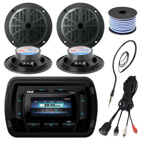 Pyle Patvr14 Mp3 Mp5 Bluetooth Marine Boat Yacht Stereo