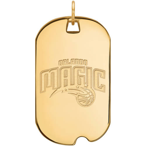 LogoArt NBA Orlando Magic 10kt Yellow Gold Large Dog Tag