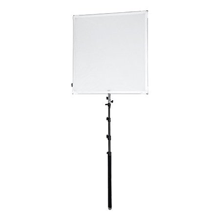 Reflector Scrim (Pro Studio Solutions 90x90cm (35.5x35.5in) Sun Scrim - Collapsible Frame Diffusion & Silver/White Reflector Kit with Boom Handle and Carry Bag )