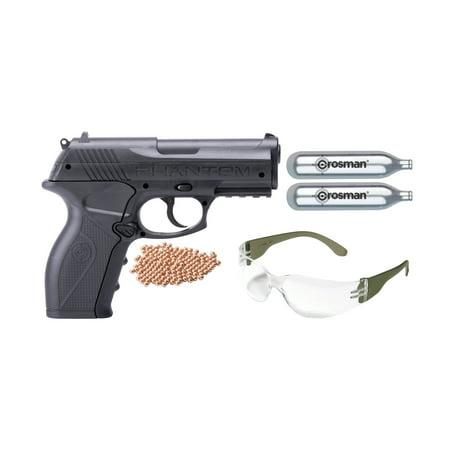 Crosman 177 Caliber P10 CO2 Powered Semi Auto Air Pistol Kit P10KT ()