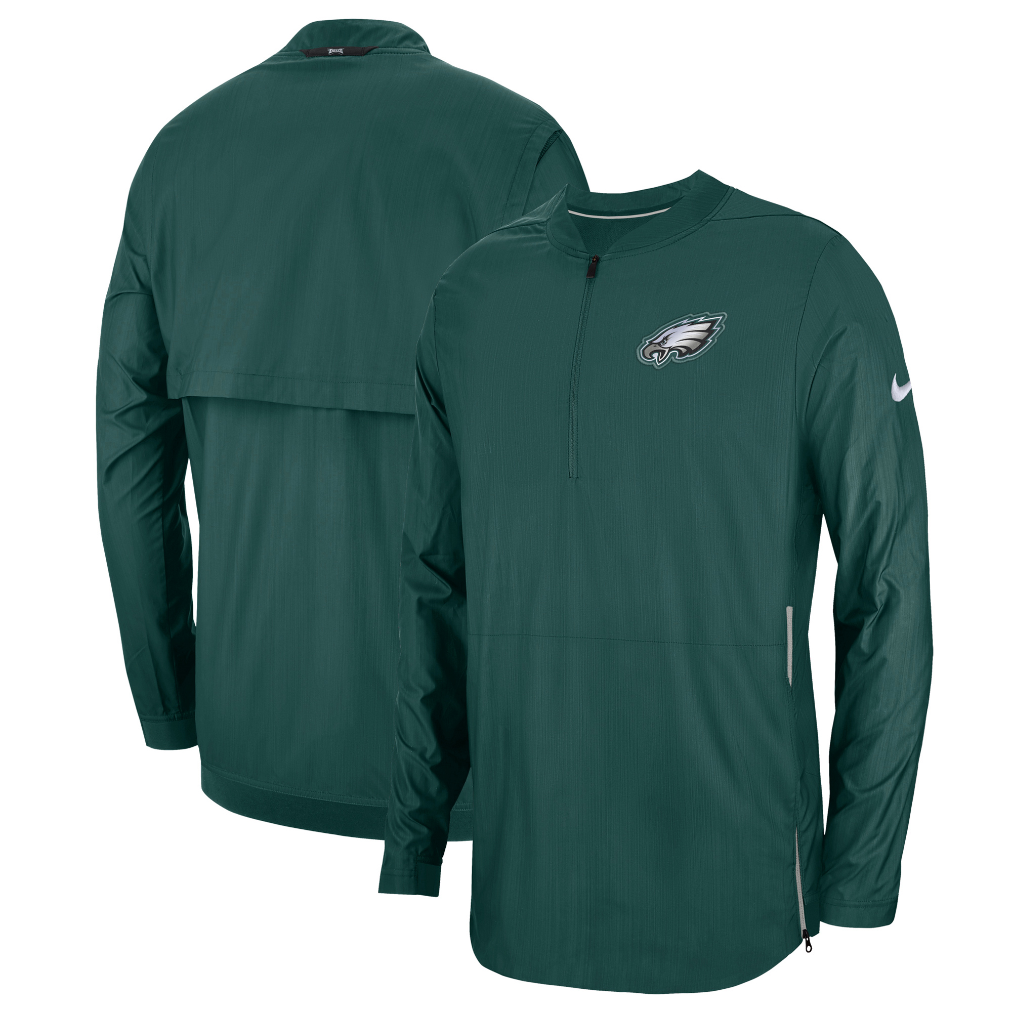 Philadelphia Eagles Nike Sideline Lockdown Quarter-Zip Jacket - Midnight Green