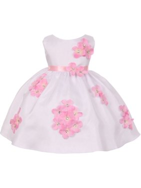 1782b7961 Product Image Kids Dream Baby Girls Pink Shantung Flower Petals Special  Occasion Dress 6-24M