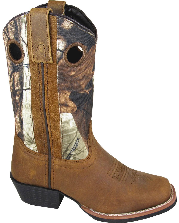Smoky Mountain Boys' Mesa Camo Western Boot Square Toe - 3470Y