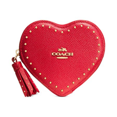 Coach Womens Textured Studded Coin Pouch