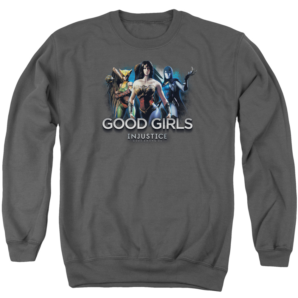 Injustice Gods Among Us Good Girls Mens Crewneck Sweatshirt