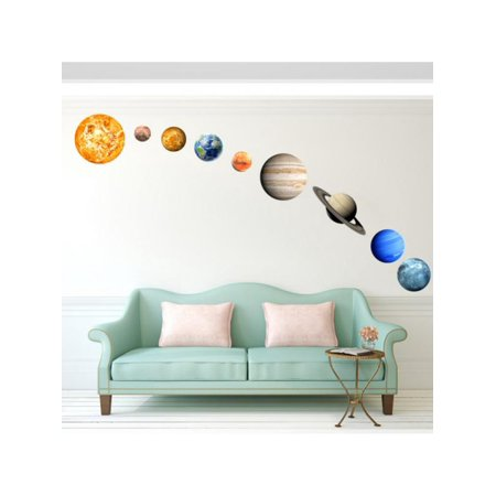 Ropalia Glow In The Dark Solar System Wall Stickers 9# Planets Mars Decal - Glow In The Dark Wall Decals