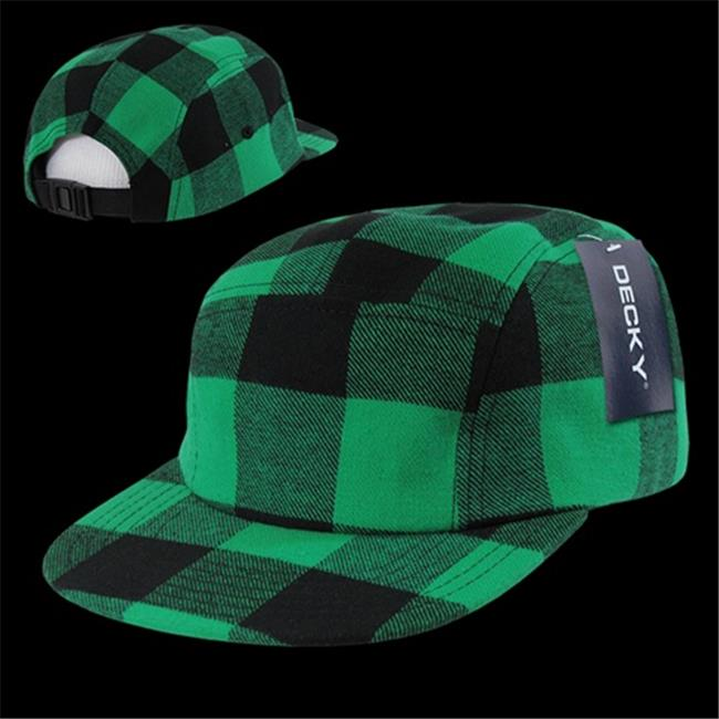 Decky 984-PLAID-TEAL Plaid 5 Panel Racer Caps, Teal - image 1 of 1