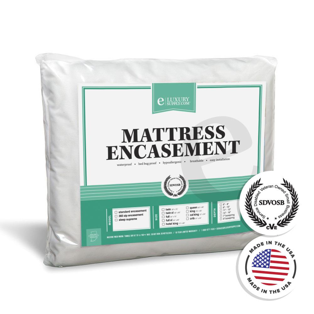 360 Removable Top Mattress Encasement Waterproof Bed