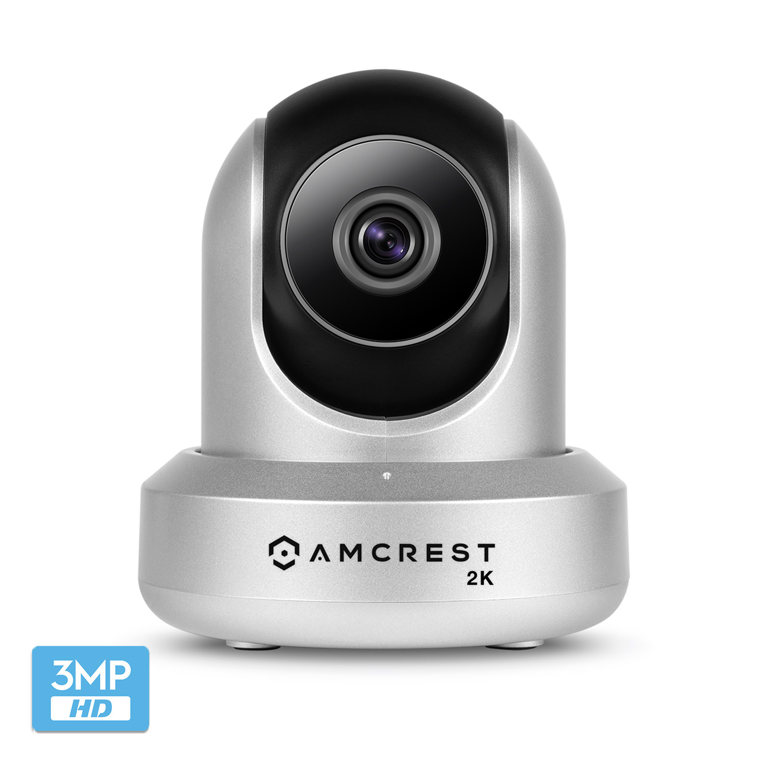 Amcrest UltraHD 2K (3MP/2304TVL) WiFi Video Security IP Camera with Pan/Tilt, Two-Way Audio, 3MP @ 20FPS, Wide 90° Viewing Angle and Night Vision IP3M-941B (Black)