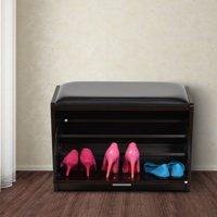 HomCom 24 in. Shoe Storage Bench