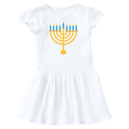 Hanukkah Dress - Hanukkah Chanukah Menorah Toddler Dress