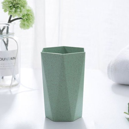KABOER Simple Style Tea Cups Plastic Cup Toothbrush Mug for Home Bathroom Wheat Straw Ecological Coffee Tea Milk Drink Cup ()