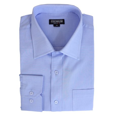 Cotton Jersey Dress Shirt (Men's 100% Cotton Long Sleeve Casual Dress Shirts)