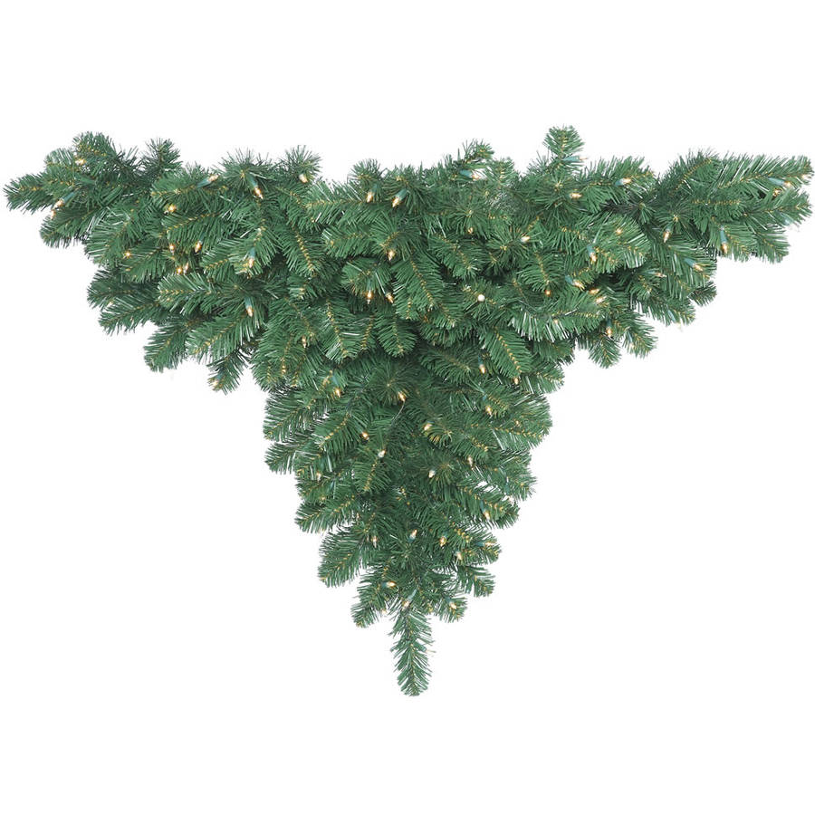 "Vickerman 48"" Oregon Fir Artificial Ceiling Christmas Tree with 200 Clear Lights"