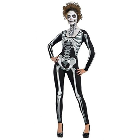 Standard Adult Black & Bone Catsuit](Cat Suits For Halloween)