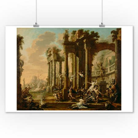 The Triumph Of Venus   Masterpiece Classic   Artist  Alessandro Magnasco C  1720S  9X12 Art Print  Wall Decor Travel Poster