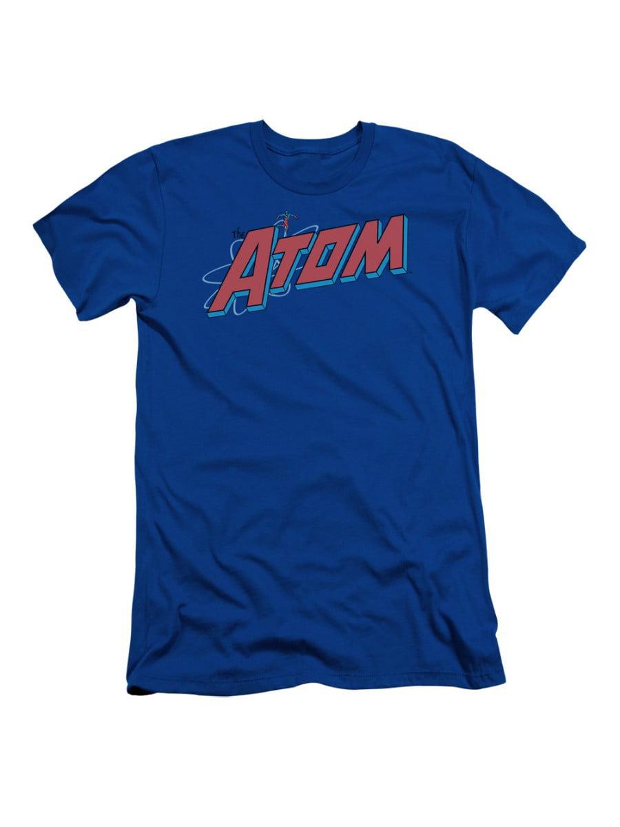 Dc The Atom Dc Comics Superhero Small Atom And Logo Adult Slim T