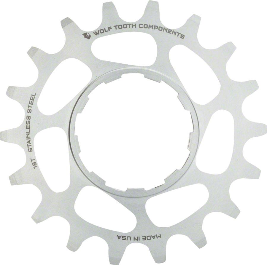 """Wolf Tooth Components Single Speed Stainless Steel Cog: 16T, Compatible with 3/32"""" Chains"""