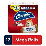 Charmin Ultra Strong Toilet Paper, 12 Mega Rolls, 3432 Sheets
