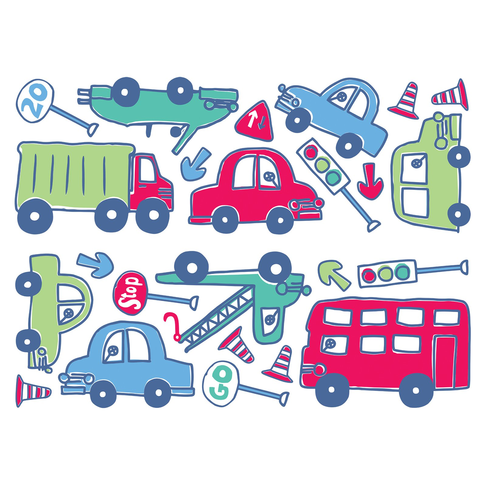 Fun4Walls Beep Beep Wall Stickers Set of 2 by Brewster